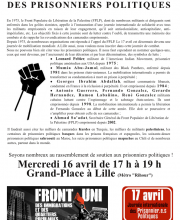 Tract Prisonier politique  17 avril 2014