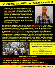 Tract Violence policiere Lahoucine