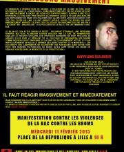 manifestation contre la Rromophobie Violence policiere
